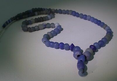 Ancient Roman Light Blue Glass Bead Necklace - Circa 2Nd Century Ad - No Reserve