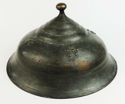 18th Century OTTOMAN TURKISH Antique TINNED COPPER BOWL COVER