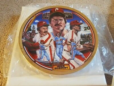 Mike Schmidt Sports Impressions Collector's Plate Baseball's Greatest 3rd Basema