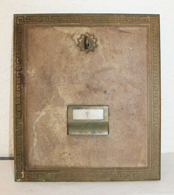 Large Vintage 1968  Brass Post Office Box Door Ameican Device 10 3/4 x 12 1/4