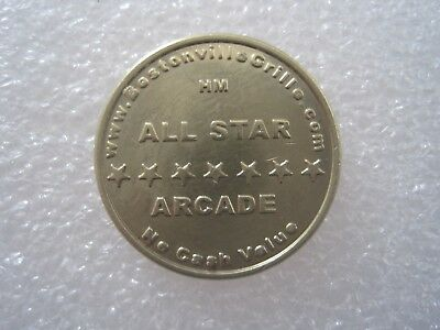 All Star Arcade Lynnfield Massachusetts (CLOSED) Token Coin 1212-1