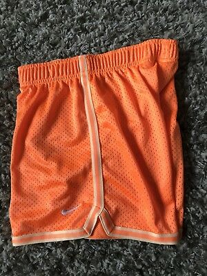 Nike Youth Boys Medium Dri-Fit Athletic Neon Orange Shorts