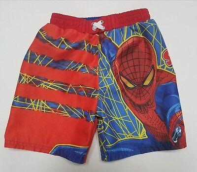 The Amazing Spider-Man Boys Red, Blue, & Yellow Swim Trunks Size 24 Months