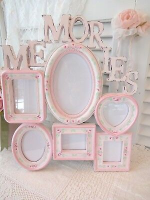 MEMORIES FRAME PINK ROSES daSommers hp hand painted chic shabby vintage cottage