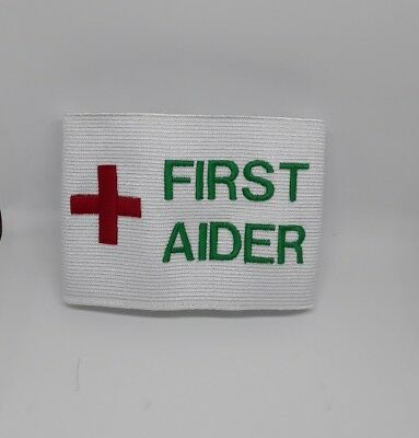 First Aider Aid Armband Arm Band - Ideal for Events Concerts Security Workplace