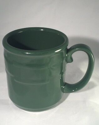 Longaberger Pottery Woven Tradition Ivy Green Coffee Tea Cider Mug Cup NEW