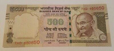India 500 rupee 2012  banknote world paper money UNC SERIAL NR 850850