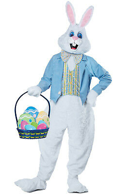 Brand New Deluxe Easter Bunny Mascot Adult Costume