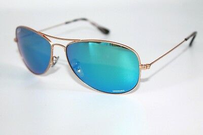 a86f71b1e2 Ray Ban Polarized Chromance Sunglasses RB3562 112 A1 Gold Frame W  Blue lens