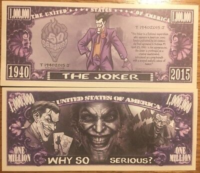 Joker Million Dollar Bill ( Batman , DC Comics )