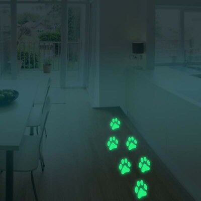 Glow in The Dark Animal Paw Print Wall stickers Removable Home Room Decal Decor