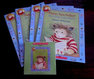 Mother, You're the Best! D. deGroat Scholastic Listening Center 4 Books with CD