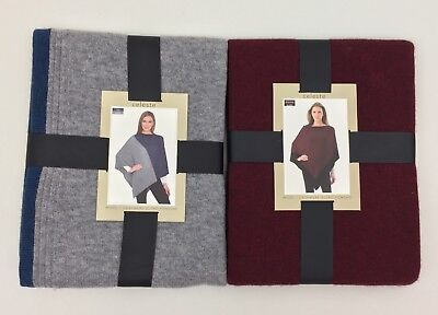 New Celeste Women's Cashmere Blend Poncho Sweater Wrap Variety One Size