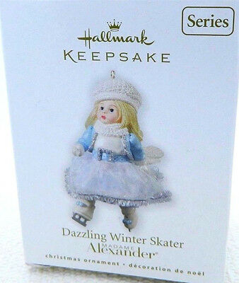Hallmark 2010 Madame Alexander Dazzling Winter Skater  MIB Doll Ornament