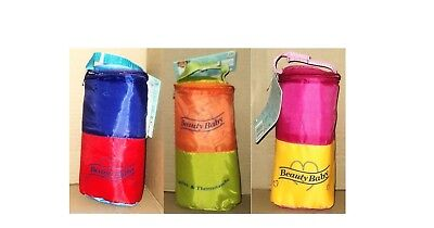 BEAUTY BABY INSULATED BOTTLE WARM or COOL HOLDER ASSORTED
