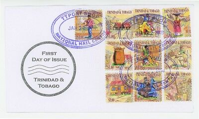 Trinidad & Tobago New Creole Harvest Booklet, First Day Cover!