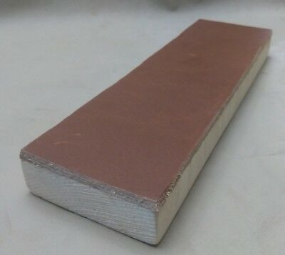 """8"""" x 2.5"""" Leather Strop Block one sided for sharpening knives and tools"""