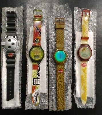Burger King 1997 Jurassic Park The Lost World  Complete Set of 4 Watches NIB