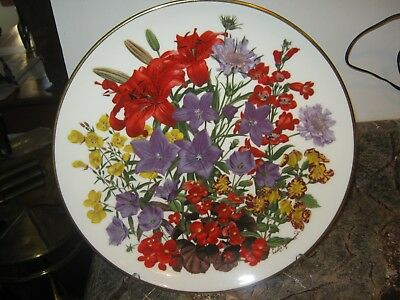 Franklin Mint FLOWERS OF THE YEAR PLATE by Wedgwood  1978 JULY Great Condition
