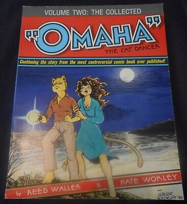 The Collected Omaha The Cat Dancer Vol 2 Vol 4 First Printing Kate Worley Furry