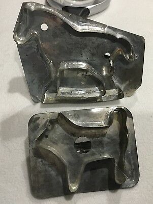 Vintage Horse and Dog Antique TIN COOKIE Cutter Old Soldered 50+ years
