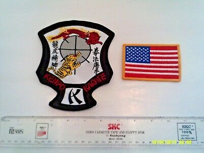 New Large American And Kenpo Karate Patches 1298 Picclick