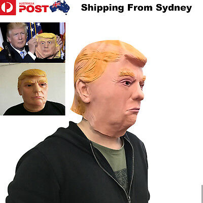 Donald Trump Head Mask American USA President Latex Costume Cosplay Party Hallow