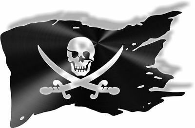 DXF CNC dxf for Plasma Pirate Flag CS#312 Man Cave Home Beach Ocean  Wall Art