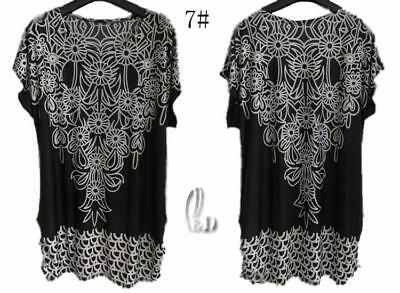 39ef2435b5 Au Stock Women's Tunic Kaftan Kimono Long Top Tee Bikini Cover Up T057-7