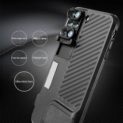 6 in 1 Phone Shell Lens Case 180°Fish-eye Wide Angle Filming for iPhone 7/8 Plus