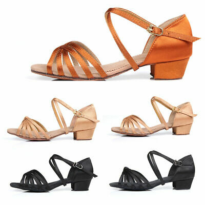 Ballroom heeled Salsa tango latin dance shoes children girls women kids