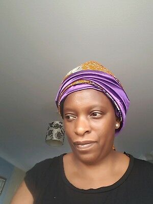 Satin lined Head wrap ,,African prints,Silk lined hat print,Ankara lined scarf