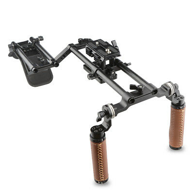 CAMVATE DSLR Camera Shoulder Rig ARRI Rosette Handgrip Support Kit for Camcorder