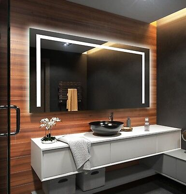 LED Illuminated Bathroom Mirror L11 To Measure Custom Size