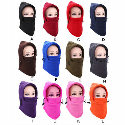 6 in 1 Outdoor Ski Masks Bike Cyling Beanies Winter Wind Stopper Face Hats UK