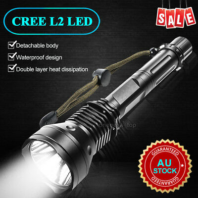 CREE XM-L2 USB LED Detachable 9000Lm 18650 Rechargeable Battery Flashlight Torch