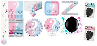 Boy Girl Gender Reveal Baby Shower Party Supplies Tableware Decorations Girl
