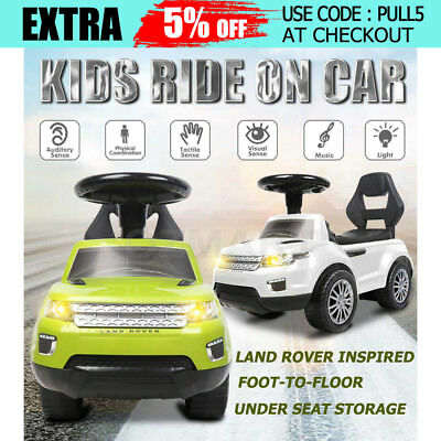 2017 Land Rover Inspired Kids Ride On Car Push Toy Foot-to-Floor Toddler Walker