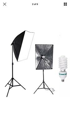 1x 135w Continuous Lighting Softbox Kit