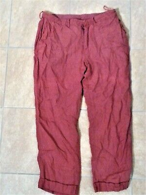 """Red Lined LinenTrousers - Candide, RSC 2013, worn by Ciarán Owens. W:36"""" L:29"""""""