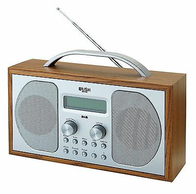 Bush Wooden Bluetooth DAB LCD Display Radio New Model to Arden 1507BT