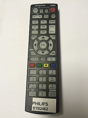 Replacement Remote Control for Philips Micro Music System DAB,CD,MP3,USB BTB2462