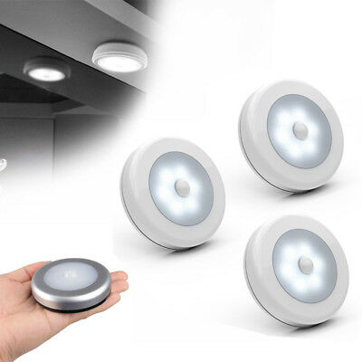 Wireless 6-LED Light PIR Auto Sensor Motion Detector Corridor Wall Night Lamp