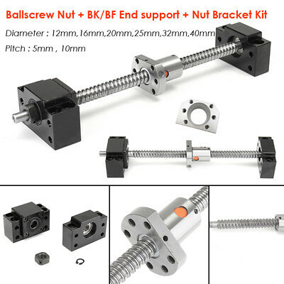Rolled Ball Screw SFU Ballscrew + Ballnut BK/BF End Support RM1204-4010 Full Kit