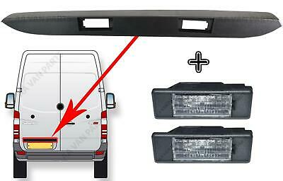 Vw Crafter Rear Door Number Plate Light X2 + Lamp Holder Strip 2006 - 2016
