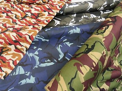 """Camo Cotton Drill FabricArmy Military Camouflage Material150cm 59/"""" Wide"""