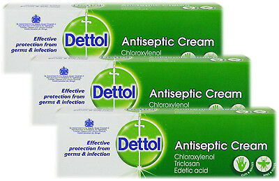 Dettol Antiseptic Cream 30g - Protection From Germs & Infections - Triple pack