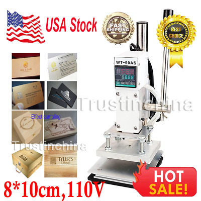 8*10cm Manual Digital Hot Foil Stamping Machine PVC Card Leather Bronzing 110V
