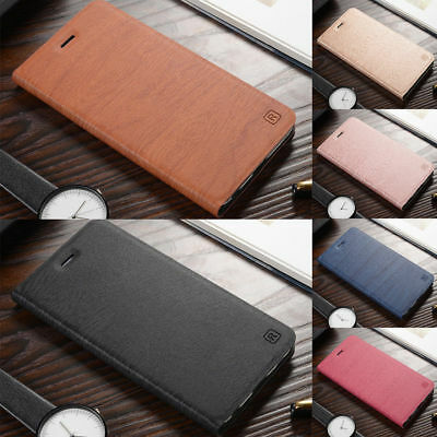 For Samsung S8 S9 S10 Plus Note 3 8 Business Leather Slim Flip Wallet Case Cover