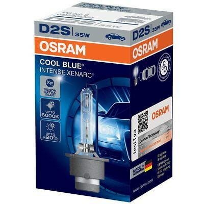 Osram D2S Cool Blue Intense XENARC 6000K HID Xenon Gas Upgrade Bulb 35W 66240CBI
